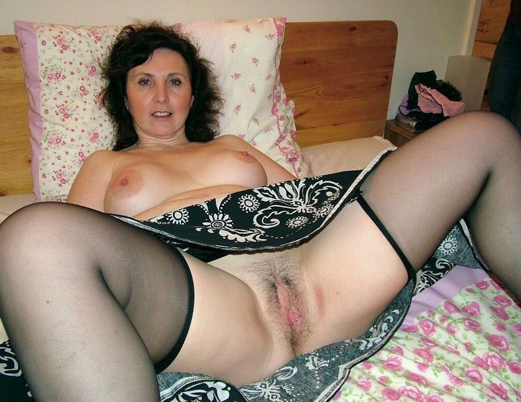 Great Milf Mom Wife Mature Granny Stockings Pussy nice job